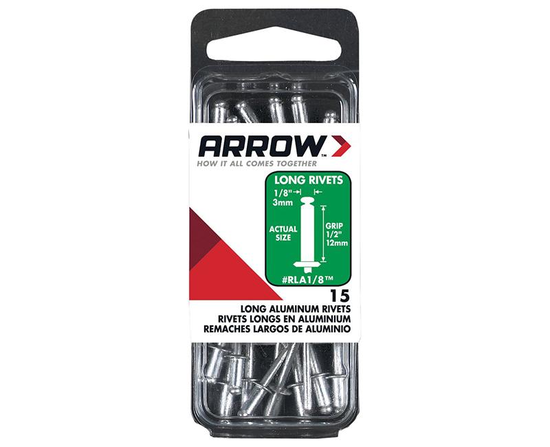"1/8"" Aluminum Rivets - 1/2"" Range - 15 PCS."
