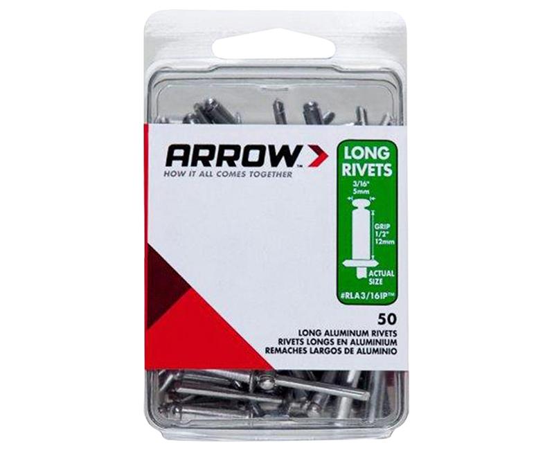 "3/16"" Aluminum Rivets - 1/2"" Range - 50 PCS."