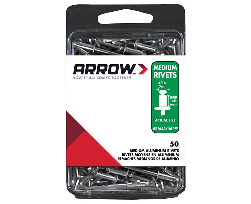 "3/16"" Aluminum Rivets - 1/4"" Range - 50 PCS."