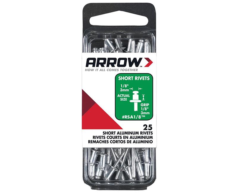 "1/8"" Aluminum Rivets - 1/8"" Range - 25 PCS."