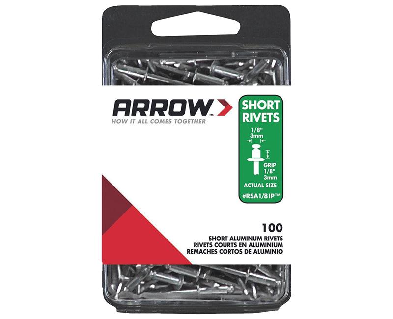 "1/8"" Aluminum Rivets - 1/8"" Range - 100 PCS."