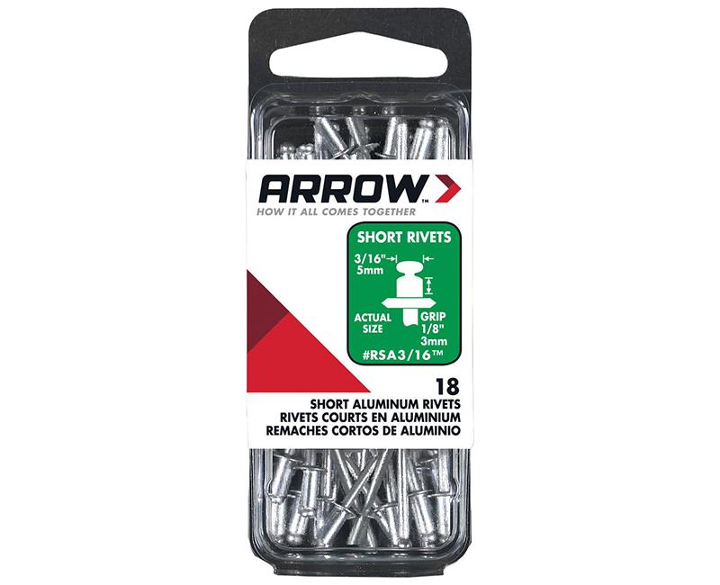"3/16"" Aluminum Rivets - 1/8"" Range - 25 PCS."