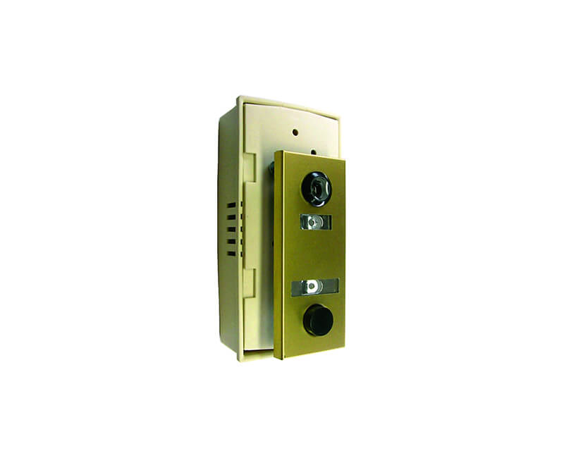 Gold Lacquer Finish Door Chime With Viewer