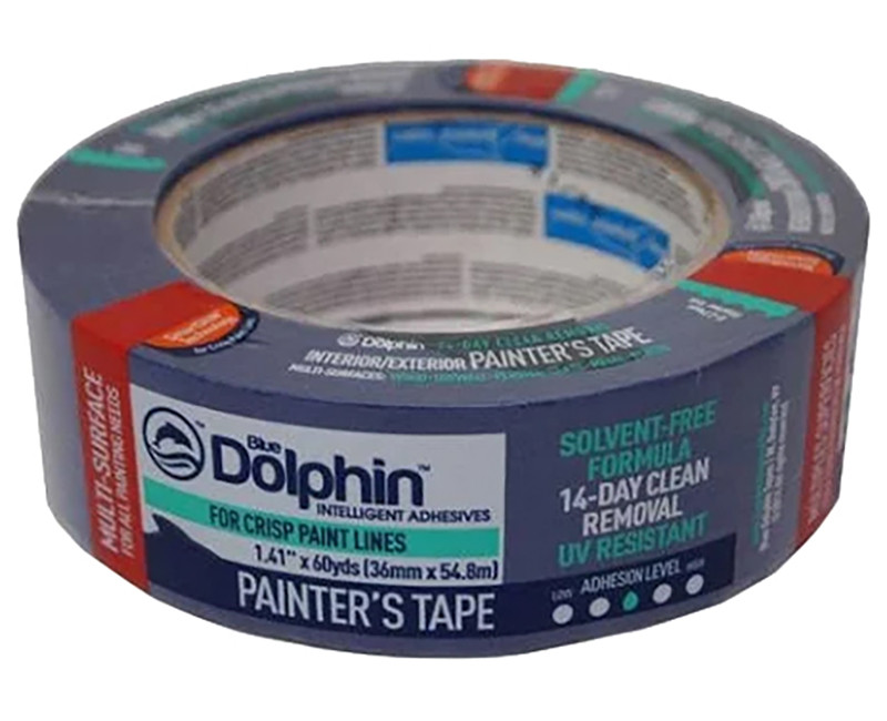 "1-1/2"" X 60 YD BLUE PAINTER'S TAPE"