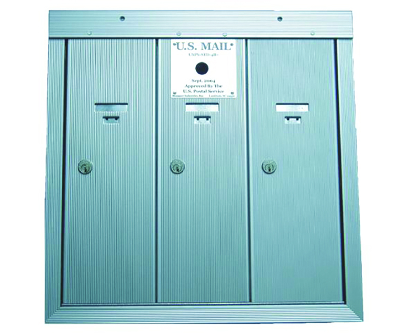 Post Office Approved Aluminum Mailbox With Buttons - 3 Gang