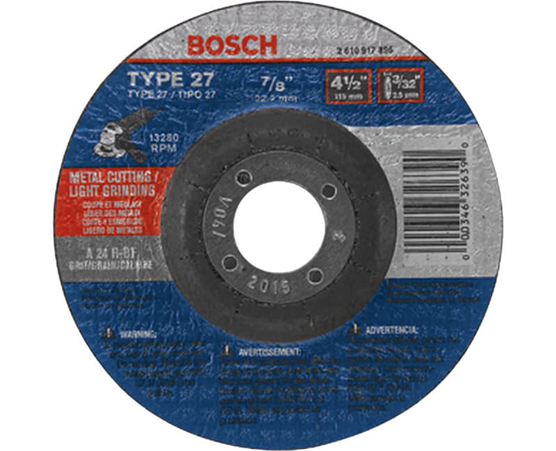 "4-1/2"" x 1/8"" Cutting Wheel"