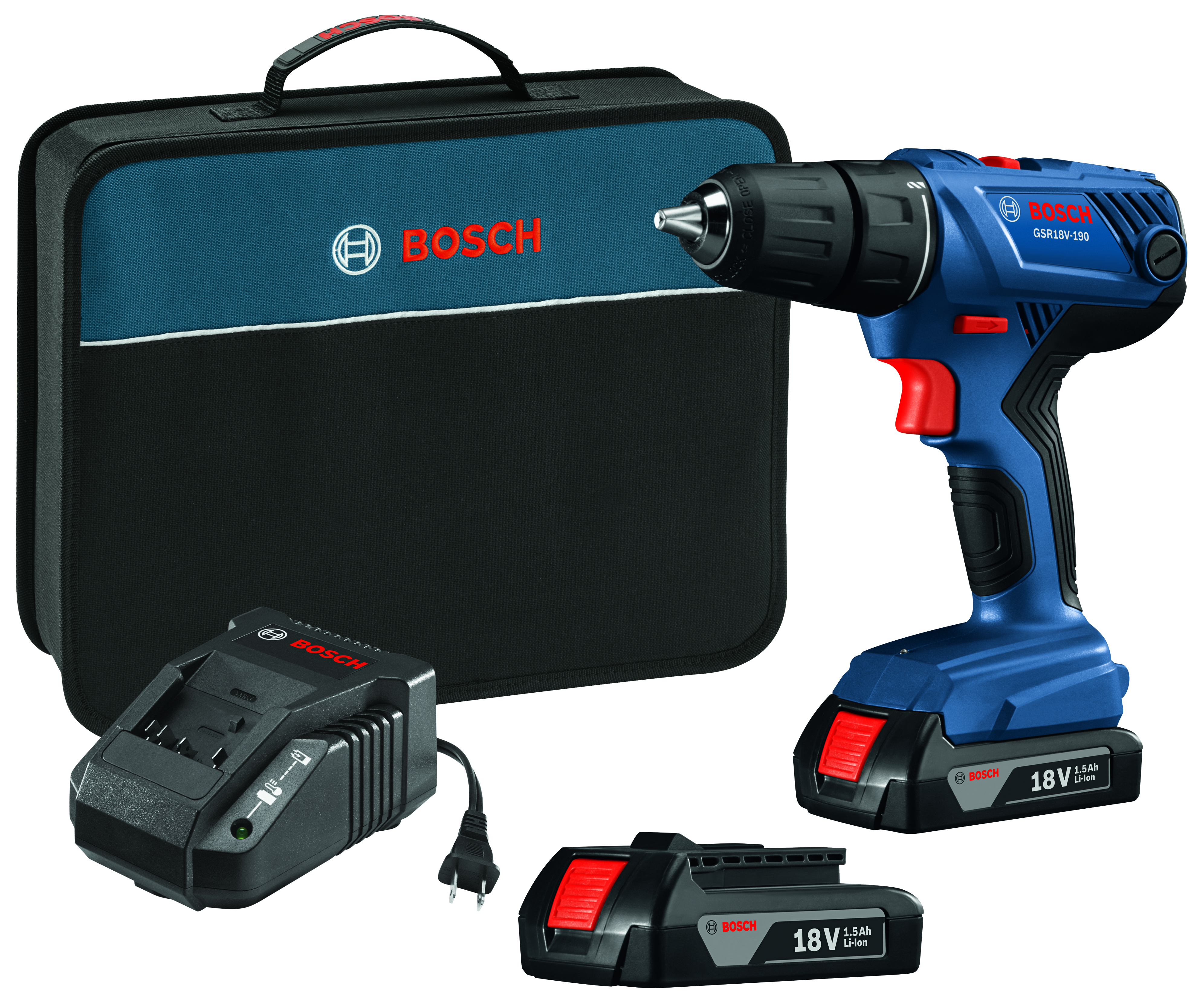 18V Compact Drill Driver W/ 2 Slim Pack Batteries