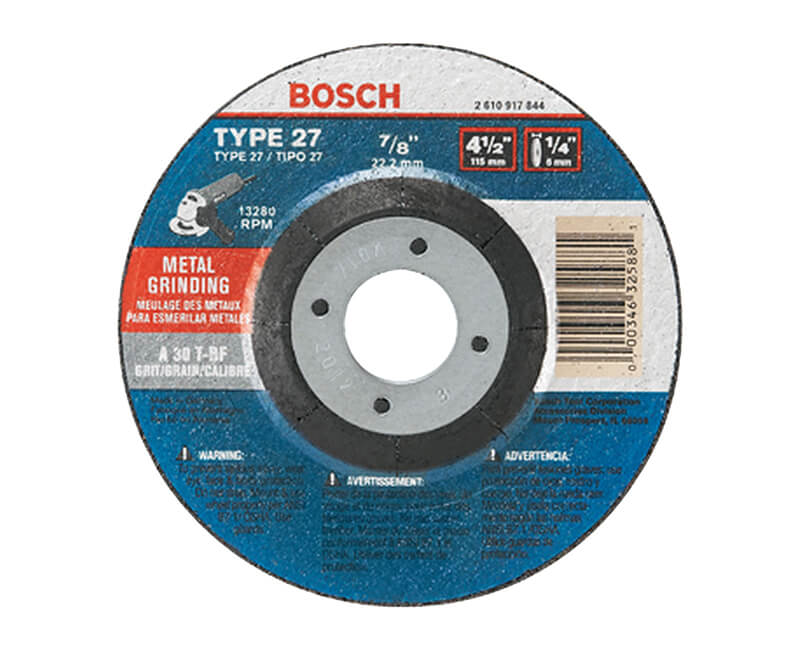 Type 27 30 Grit Grinding Wheel