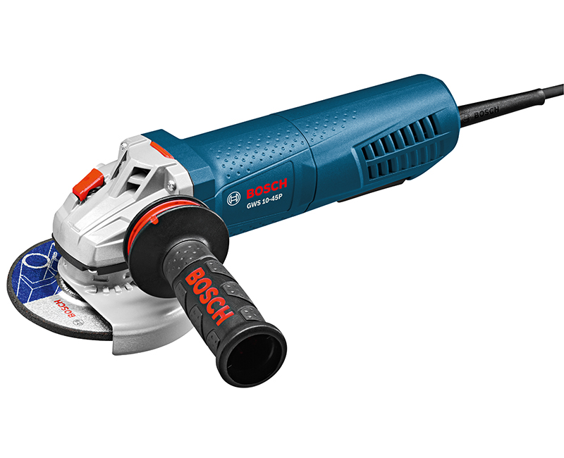 """4 1/2"""" ANGLE GRINDER 10AMP W/LOCK-ON PADDLE THUMB SWITCH"""