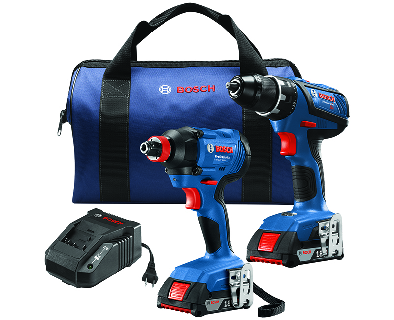 2 Tool Kit W/ Compact Tough Drill Driver + Impact Driver