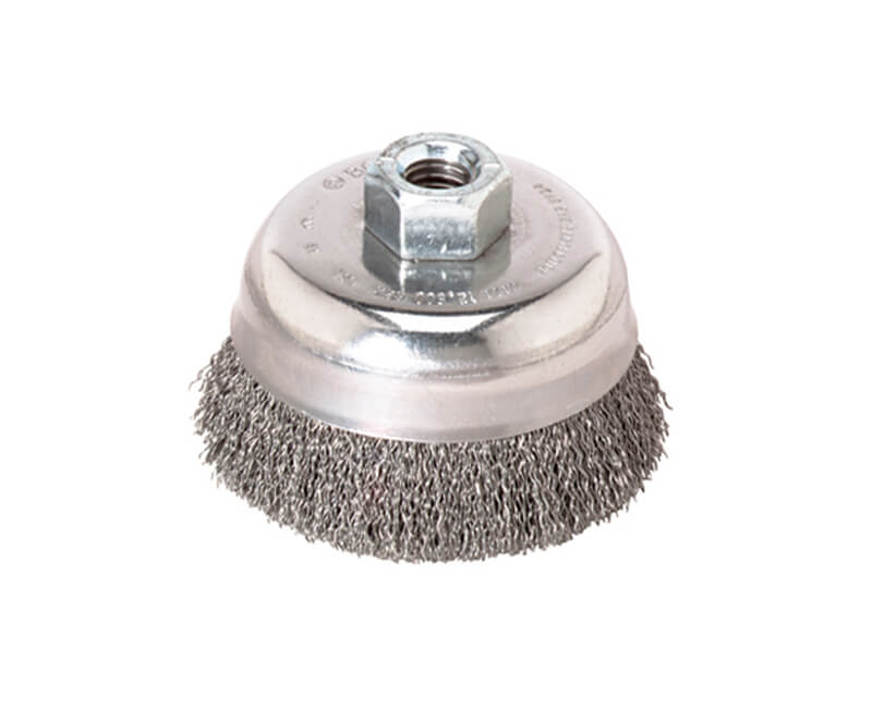 "3-1/2"" Knotted Cup Brush Stainless Steel"