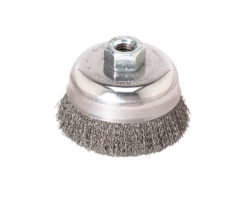 "3-1/2"" Knotted Wire Cup Brush Carbon Steel"