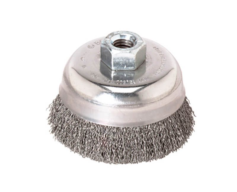 "3-1/2"" Crimped Cup Brush Carbon Steel"