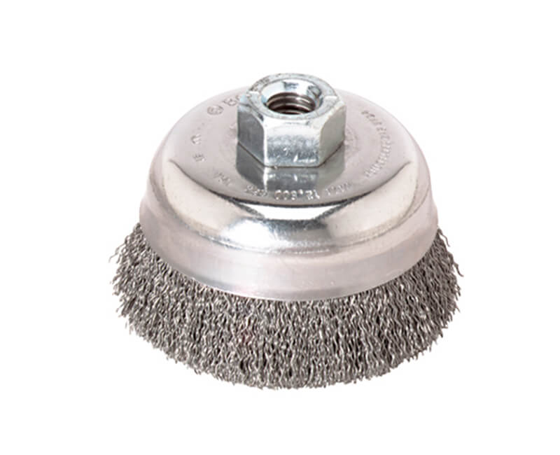 "4"" Crimped Wire Cup Brush Carbon Steel"
