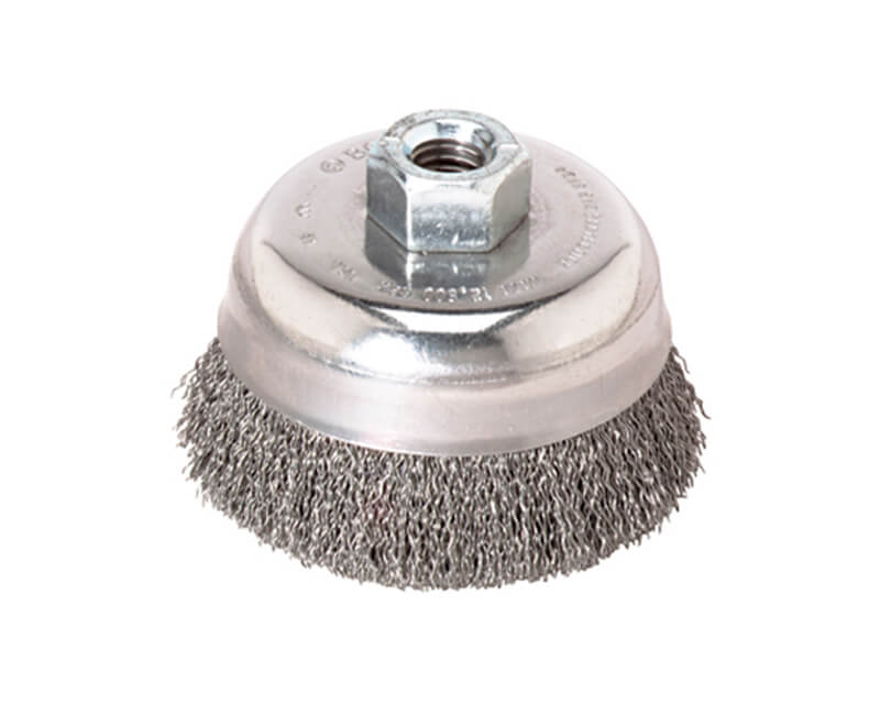 "6"" Crimped Wire Cup Brush Carbon Steel"