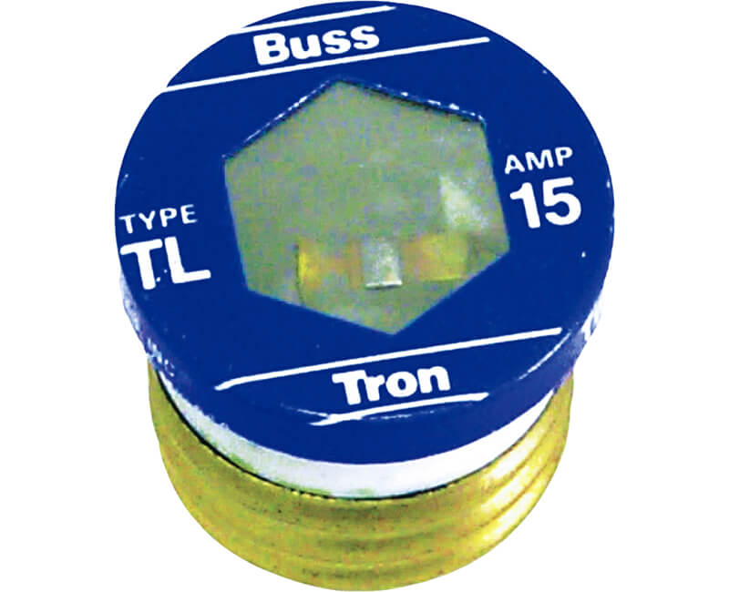 15 AMP Edison Base Plug Fuse - 3/Card