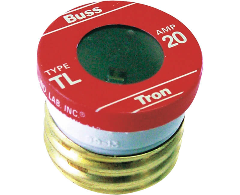20 AMP Edison Base Plug Fuse - 3/Card