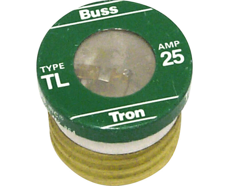 25 AMP Edison Base Plug Fuse - 3/Card