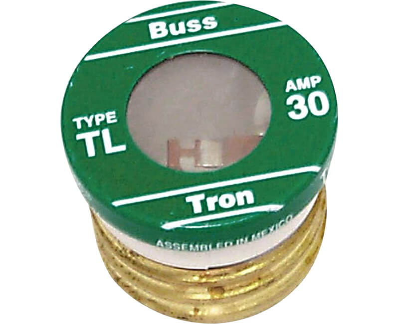 30 AMP Edison Base Plug Fuse - 3/Card