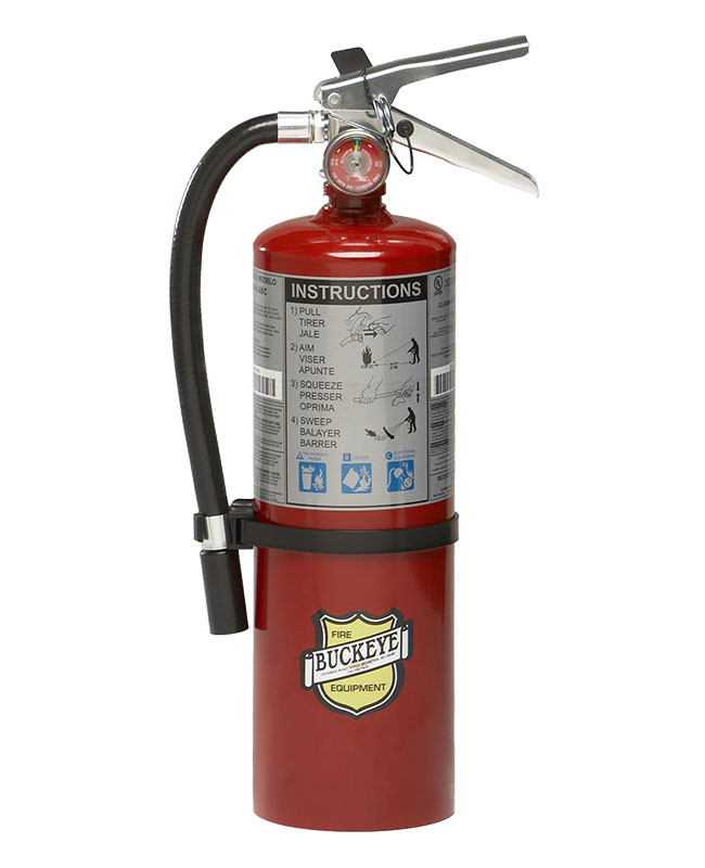 5 LB ABC RECHARGEABLE FIRE EXTINGUISHER WALL MOUNT