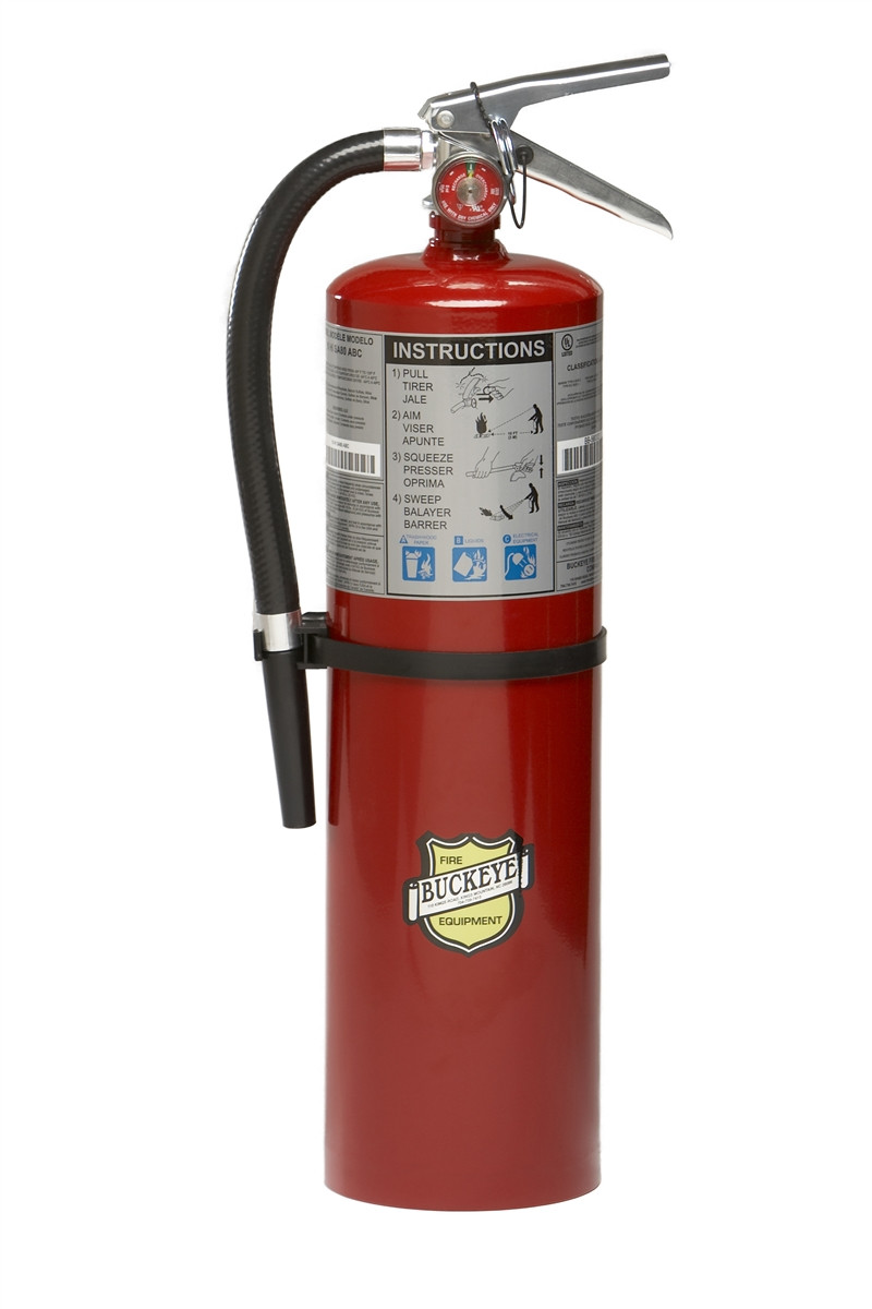10 LB ABC RECHARGEABLE FIRE EXTINGUISHER WALL MOUNT