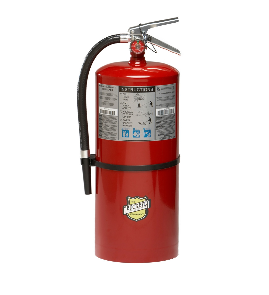 20 LB ABC RECHARGEABLE FIRE EXTINGUISHER WALL MOUNT