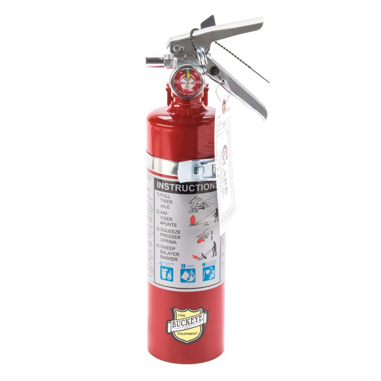 2.5 LB ABC RECHARGEABLE FIRE EXTINGUISHER W/ VEHICLE BRACKET