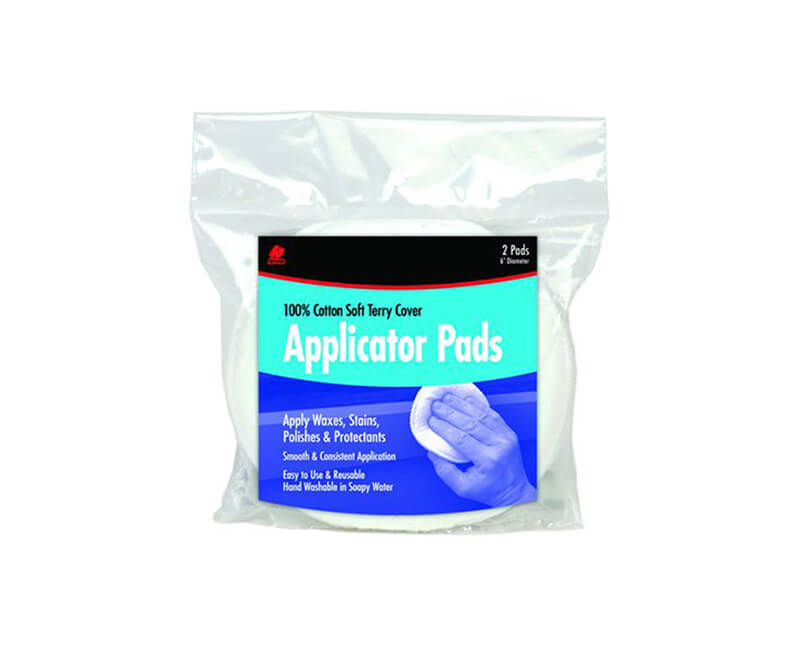 "5"" Diameter Soft Terry Applicator Pads - 2 Per Pack"