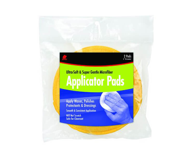 "6"" Diameter Ultra Soft Applicator Pads - 2 Per Pack"