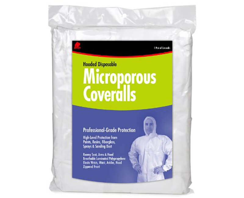 Professional GradeHooded Coverall - Large