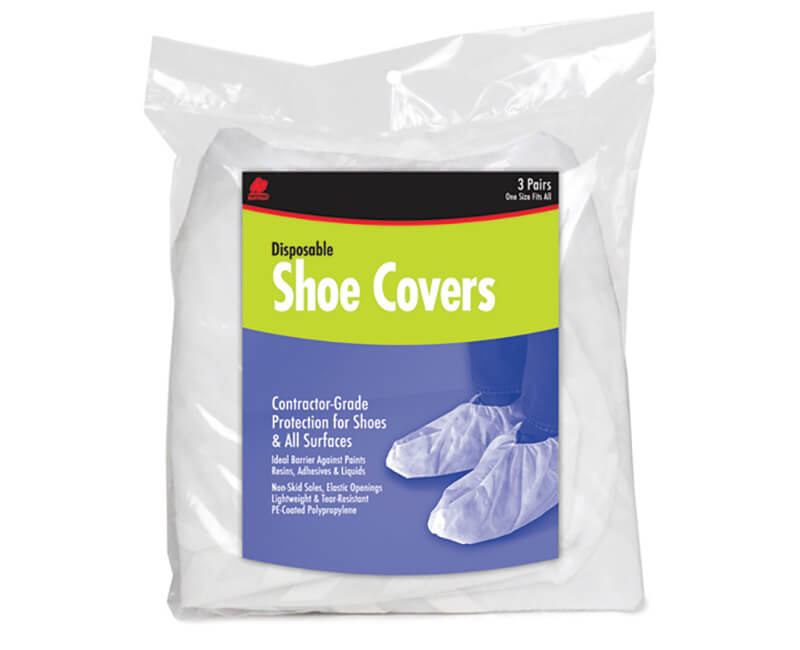 Contractor Grade Shoe Covers - 3 Per Pack