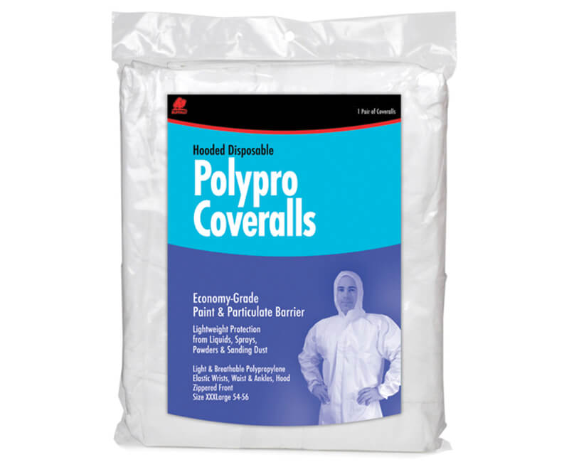 Poly Pro Disposable Hooded Coverall - Large