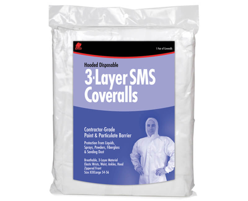 3 Layer SMS Hooded Coverall - XX-Large