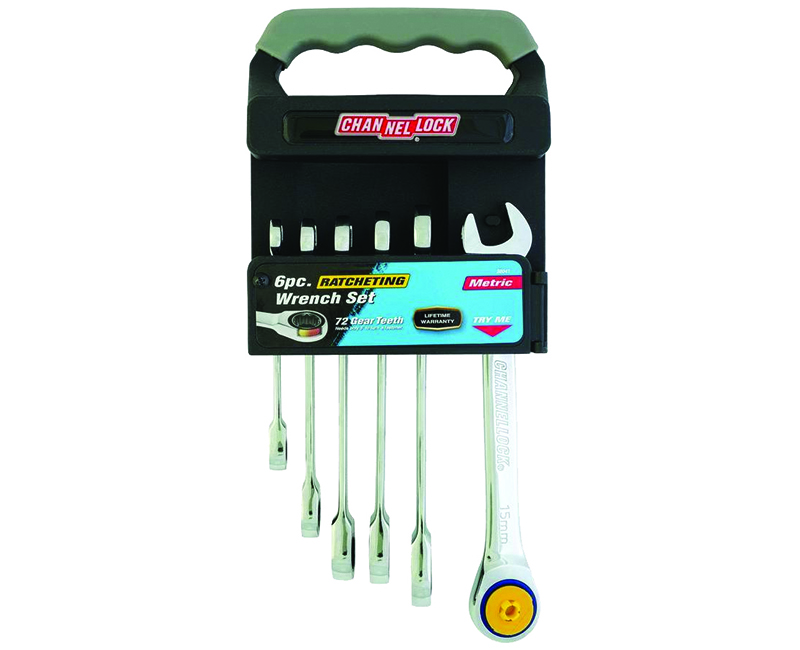 Ratcheting Wrench Metric Set W/ Rack - 6 Pieces