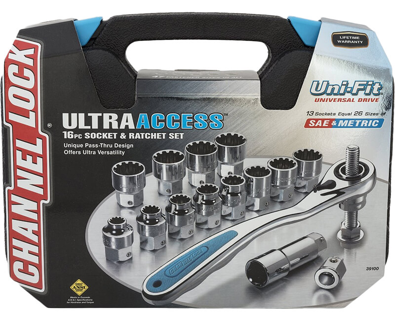 16 Piece Ultra Socket Set Uni-Fit