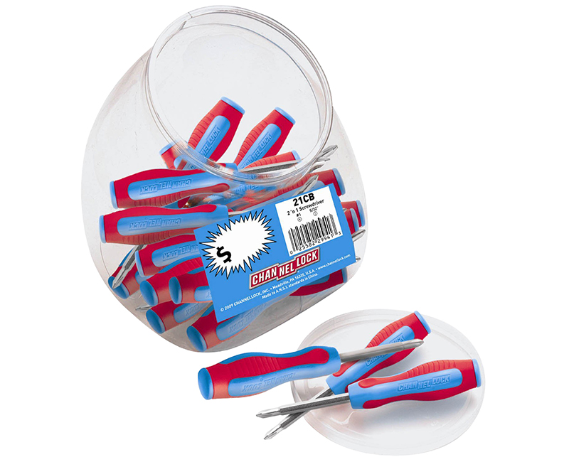 2-In-1 Screwdriver Counter Jar - 25 Each