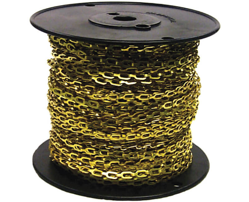 1/0 Solid Brass Safety Chain - 200'