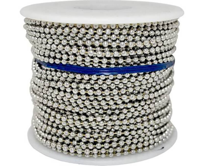 #13 Nickel Plated Ball Chain - 100' Reel