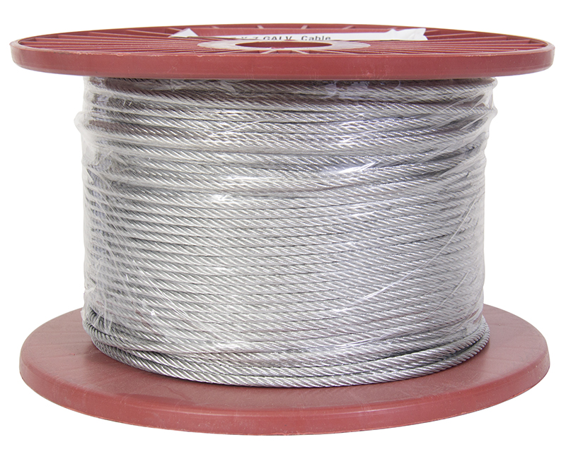 "1/8"" - 7 X 7 Galavanized Wire Rope - 500' Reel"