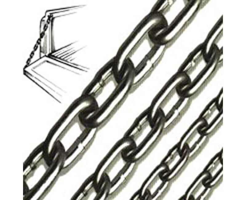 "3/16"" Zinc Plated Proof Coil Chain - 100' Reel"