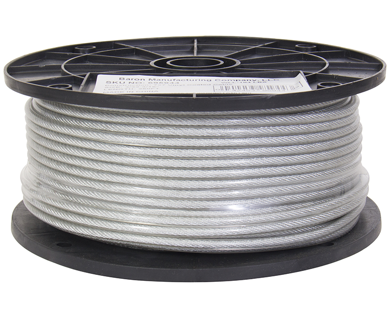 "3/32"" - 7 X 7 Plastic Coated Wire Rope - 250' Reel"