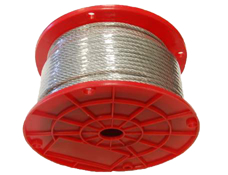 "3/16"" - 7 X 19 Galavanized Aircraft Cable - 250' Reel"