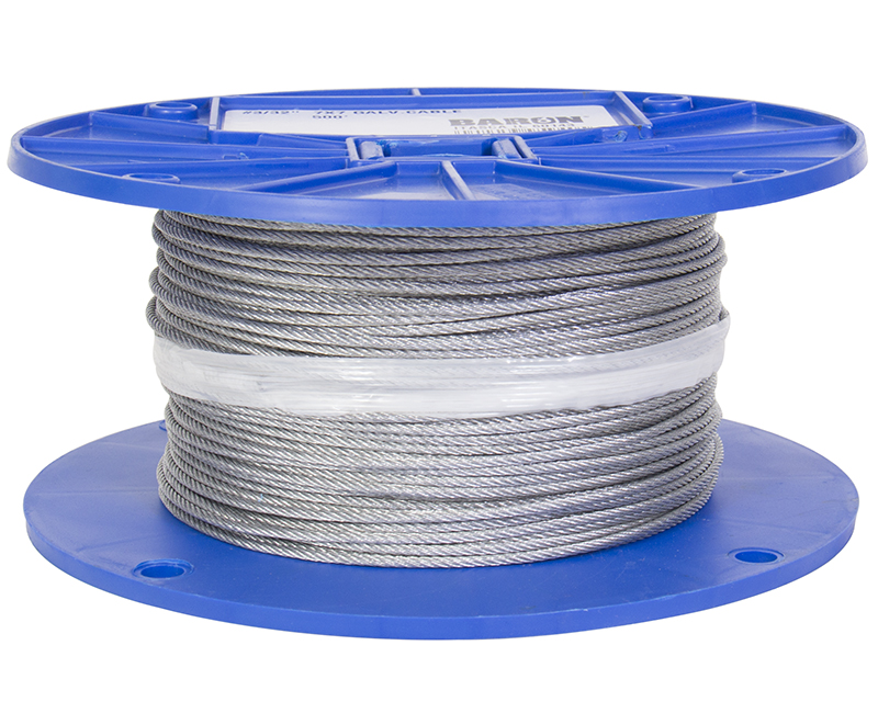 "3/32"" - 7 X 7 Galavanized Wire Rope - 500' Reel"