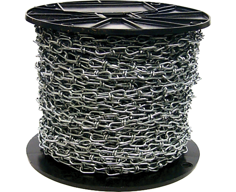 #3 Zinc Plated Double Loop Chain - 200' Reel