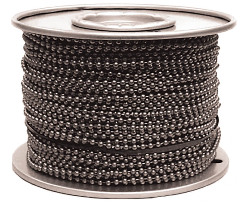 #6 Brass Plated Ball Chain - 250' Reel