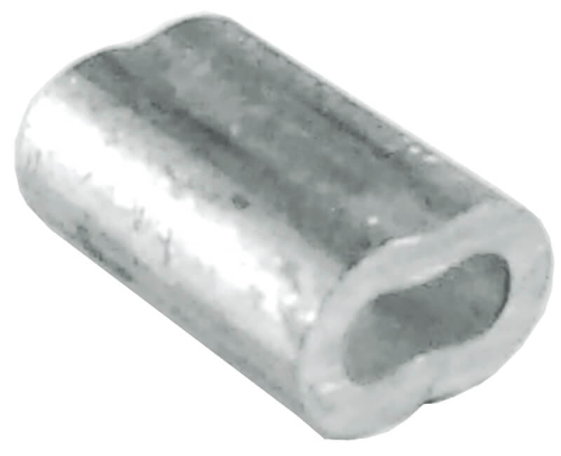 "1/16"" Aluminum Sleeve For Aircraft Cable - 100 Per Box"