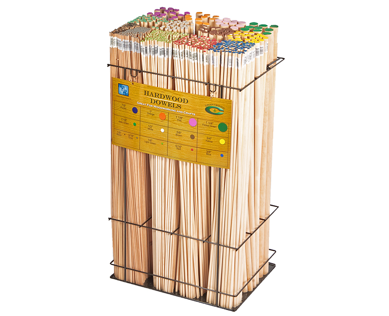 "36"" Dowel Display Rack"