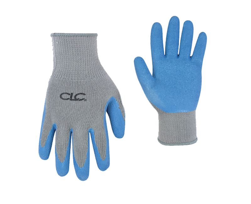 Blue Latex Grip Gloves - Large