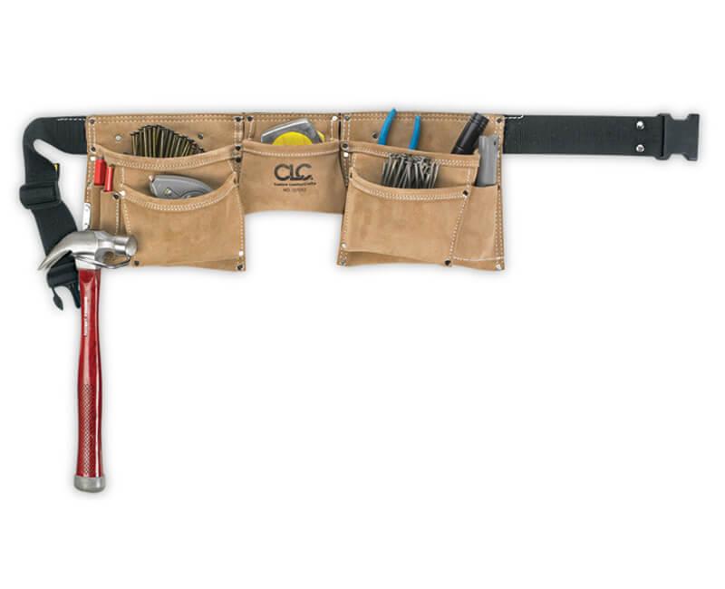 Suede Work Construction Apron - 8 Pockets