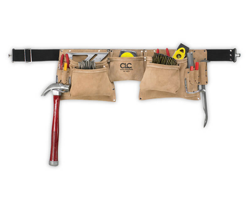 Suede Work Construction Apron - 12 Pockets